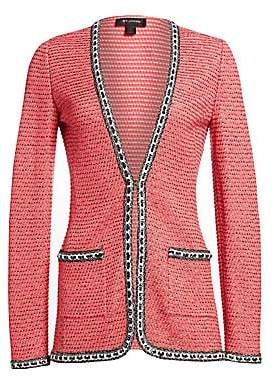 St. John Women's Bibi Knit Chain-Stitch Jacket
