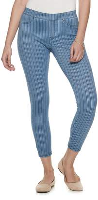 Utopia By Hue Women's Utopia by HUE Striped Skimmer Jeggings