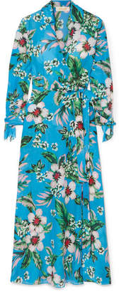 Diane von Furstenberg Floral-print Wrap Dress - Blue