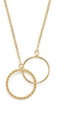 "Bloomingdale's 14K Yellow Gold Interlocking Rings Necklace, 18"" - 100% Exclusive"