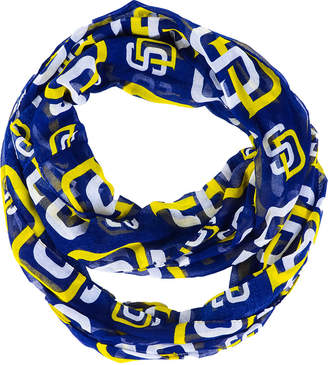 Forever Collectibles San Diego Padres All Over Logo Infinity Wrap Scarf