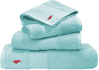 Ralph Lauren Home Player Towel - Aqua - Hand Towel