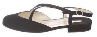 Salvatore Ferragamo Suede Crossover Sandals