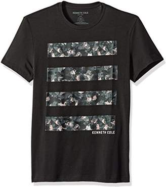 Kenneth Cole New York Men's Camo Graphic Tech Tee