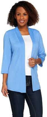 Denim & Co. Essentials Heavenly Jersey 3/4 Sleeve Cardigan