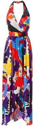 Balmain flared fitted waist dress