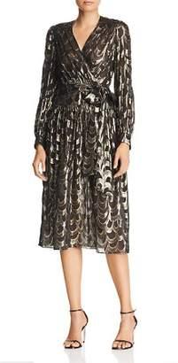 Milly Katy Metallic-Print Dress