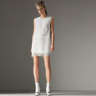 Burberry Silicone Lace Mini Dress