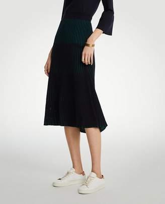 Ann Taylor Petite Ribbed Full Sweater Skirt