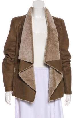 Vince Shearling Open Front Jacket