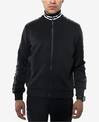 Sean John Men Logo Taping Neoprene Track Jacket