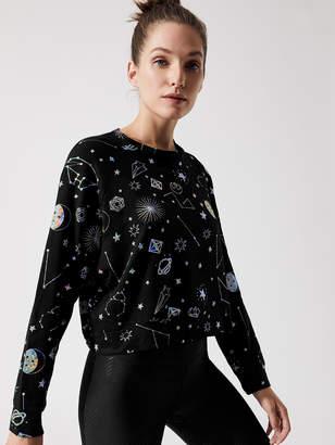 Black Foil Printed Sweatshirt