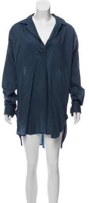 Dries Van Noten Notch-Lapel Shirt Dress