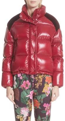 Moncler Genius by Chouette Velvet Trim Down Puffer Coat