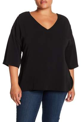 Wilson Rebel X Angels Pierced Split Sleeve Blouse (Plus Size)