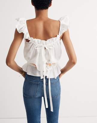 Madewell Innika Choo Daisy Embroidered Singlet Top