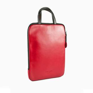 Charlie Baker London - Stockholm Padded Leather iPad Case Red
