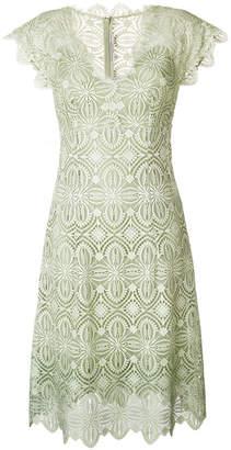 Ermanno Scervino embroidered flared midi dress