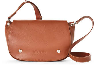 Longchamp Cognac Le Foulonne Leather Saddle Bag