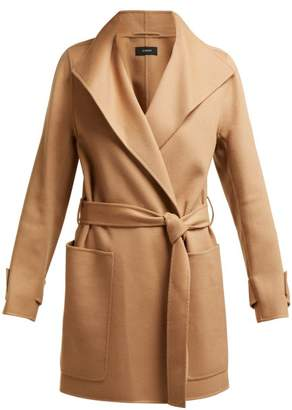 Joseph Lista Wool Blend Coat - Womens - Camel