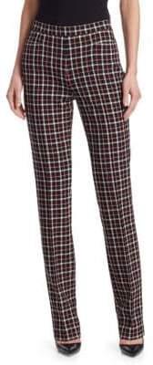 Akris Punto Glen Check Straight-Leg Pants