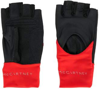 adidas by Stella McCartney fingerless sports gloves