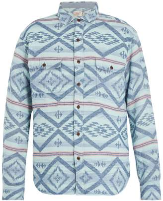 Faherty Belmar Aztec-print cotton shirt