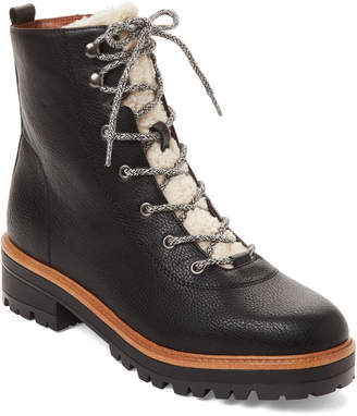Indigo Rd Black Izma Faux Leather Hiker Boots