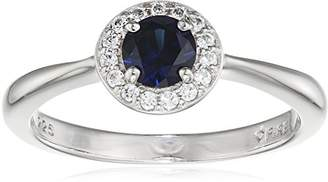 Brilliance+ Diamonfire Royal Colours Collection-Ring Ring 925 Sterling Silver Rhodium-Plated Cubic Zirconia Brilliance Blue 61/1680/1/089 silver