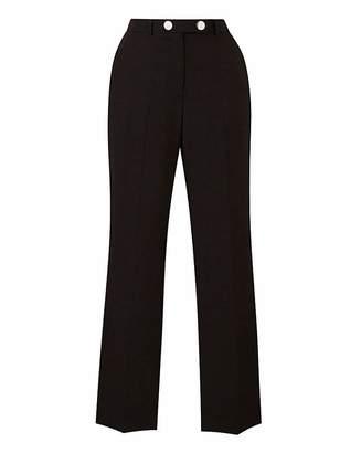 Fashion World Tailored Straight Leg Trousers Petite