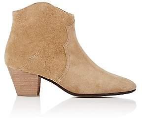 Isabel Marant Women's Dicker Suede Ankle Boots-Beige, Tan