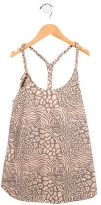 Finger In The Nose Girls' Leopard Printed Racerback Top w/ Tags