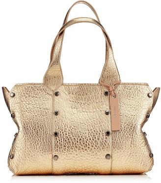 Jimmy Choo LOCKETT SHOPPER/S Dore Metallic Grainy Leather Tote Bag