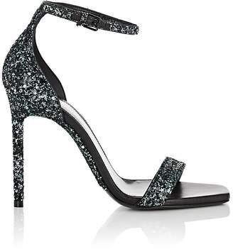 Saint Laurent Women's Amber Glitter Sandals