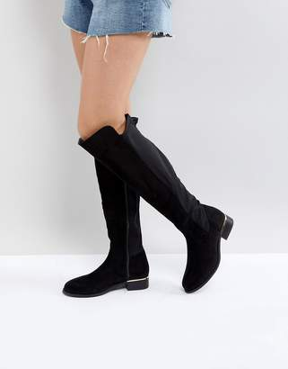 Park Lane Elastic Back Flat Over Knee Boot