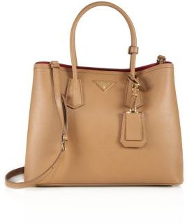Prada Saffiano Cuir Large Double Bag
