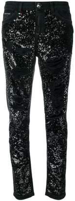 Philipp Plein Boyfriend Paillettes jeans