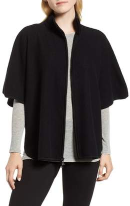 Anne Klein Zip Front Wool Cape