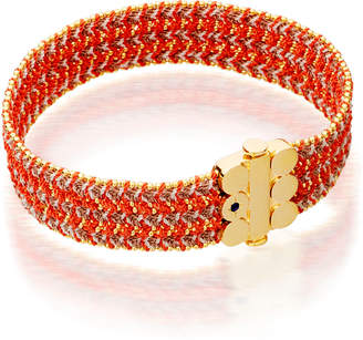 Astley Clarke Extra Wide Cajun Shrimp Cosmos Stones Bracelet, Red