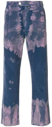 Gucci bleached corduroy trousers
