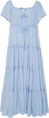 Innika Choo Tiered Cotton Peasant Dress