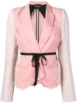 Ann Demeulemeester contrast panel brocade jacket