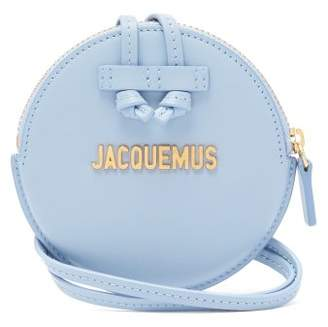 Jacquemus Le Pitchou Leather Coin Purse Bag - Womens - Light Blue