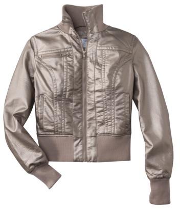 Xhilaration Junior's Faux Leather Jacket w/ Knit Trim -Assorted Colors