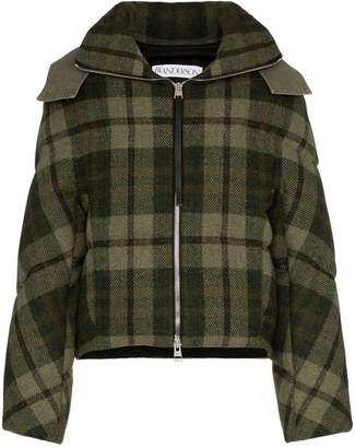 J.W.Anderson check hooded puffer jacket