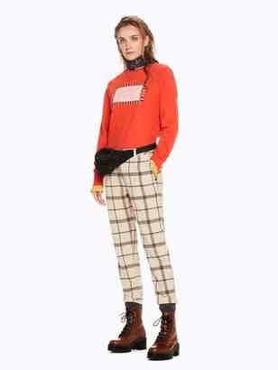 Scotch & Soda Lurex Collar Raglan Sweater