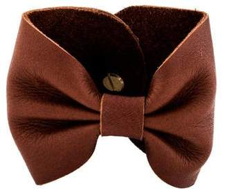 Gabriela Artigas Leather Bow Cuff