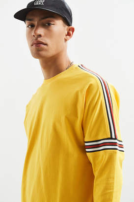 Urban Outfitters Ribbed Drop Shoulder Long Sleeve Tee