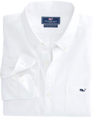 Vineyard Vines Garment Dyed Cotton Silk Slim Tucker Shirt
