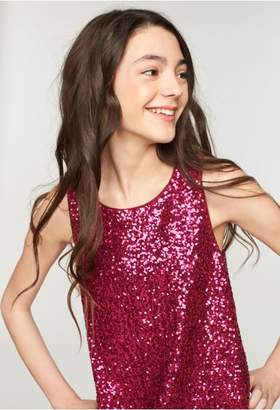 Milly Minis Sequins Bow Back Shift
